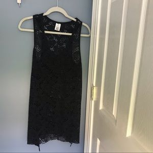 Black Swimsuit coverup size Small Mossimo Brand